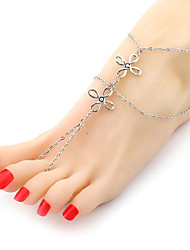 cheap -Women European Style Retro Vintage Fashion Double Chinese Knot Chain Anklets