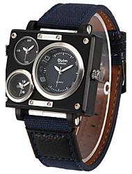 Oulm Pánské Vojenské hodinky Náramkové hodinky Křemenný Hodinky s trojitým časem Materiál Kapela Cool Běžné nošení Bílá Modrá HnědáBílá