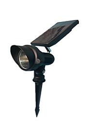 2 Piece Solar Lights Spotlight Outdoor Landscape Lighting Wall Light LED solar lawn spot light for garden