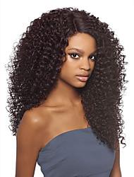 anteriore 8a viziosa pizzo ricci senza colla parrucche capelli vergini di colore naturale brasiliano parrucche dei capelli umani per le