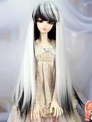 Недорогие -1/3 1/4 BJD сд DZ MSD кукла парик аксессуары длинные прямые черные и белые цвета волос парики не для взрослого человека
