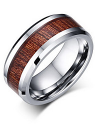 cheap -Men's Ring Band Rings Jewelry Tungsten Steel Jewelry For Party Daily Casual