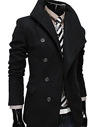 cheap -Men's Chic & Modern Coat - Solid Color, Modern Style