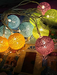 The Battery Lights Thailand Cotton Ball Lights Series Color Ball 20 Lamp Cap 3.5Meters