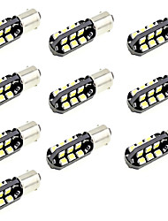 LED Car Light BA9S T4W Marker Reading Door Indicator Bulb 10 SMD 5630 12V DC Warm/White (10 Pieces)