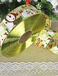 1pc 2 mètres père noël bonhomme de neige ruban guirlande de Noël arbre de Noël fournitures de Noël décoratifs (style aléatoire)