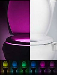 cheap -Motion Activated Toilet Nightlight LED Toilet Light Bathroom Washroom