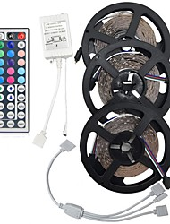 cheap -15M(3*5M) 5050 RGB 450 LEDs Strip Flexible Light LED Tape String Lights Not waterproof DC 12V 450LEDs with 44Key IR Remote Controller Kit