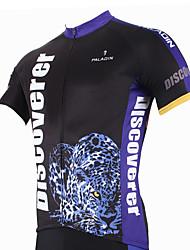 baratos -ILPALADINO Homens Manga Curta Camisa para Ciclismo Desenho Animado / Animal Moto Camisa / Roupas Para Esporte, Secagem Rápida, Resistente