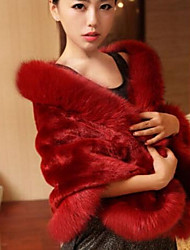 Women's Faux Fur Triangle,Party Solid Winter
