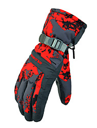 Ski Gloves Full-finger Gloves Women's / Men's Activity/ Sports Gloves Snowproof Gloves Ski & Snowboard Polyester WinterGreen / Red / Gray
