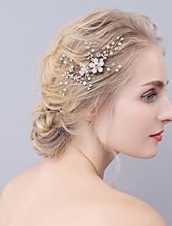 krystal rhinestone legering hår kamme hovedstykke klassisk feminin stil