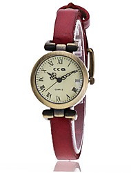 Women's Fashion Watch Bracelet Watch Quartz PU Band Vintage Casual Black White Blue Red Orange Brown Green