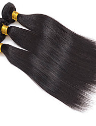 cheap -3Pcs/Lot 8-30inch Peruvian Virgin Straight Hair Natural Black Human Hair Weave Low Price Sale.