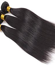 abordables -3pcs / lot 8-30inch peruvian virgin straight cheveux naturel noir cheveux humains tisser faible prix de vente.