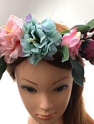 cheap -Basketwork Fabric Headbands Flowers Wreaths 1 Wedding Special Occasion Headpiece