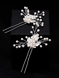 Women's Lace Crystal Imitation Pearl Chiffon Headpiece-Wedding Special Occasion Casual Office & Career Hair Stick Hair Tool 1 Piece