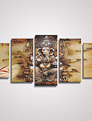 5 Panels Hindu Fairy Canvas Prints  Indian Godness Canvas Art Painting for Home Decor Unframed