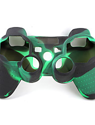 cheap -Protective Dual-Color Style Silicone Case for PS3 Controller (Army Green and Black)