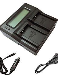 ismartdigi lpe12 LCD doppio caricabatterie con cavo di ricarica auto per Canon LP-E12 eos m m2 M10 100D batterys della macchina