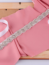 cheap -Satin Wedding / Party / Evening Sash With Rhinestone / Beading / Imitation Pearl Women's Sashes