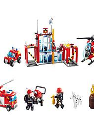 Недорогие -GUDI Экшен-фигурки Конструкторы Военные блоки Автомобиль Вертолет Грузовик совместимый Legoing Мальчики Девочки Игрушки Подарок / Обучающая игрушка