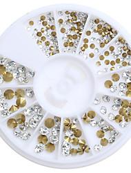 cheap -200pcs/Box Mix 3 Size Nail Art Decoration Rhinestone Pearls Makeup Cosmetic Nail Art Design