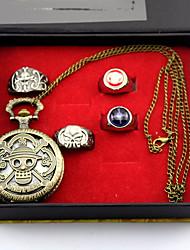 preiswerte -Uhr/Armbanduhr Mehre Accessoires Inspiriert von One Piece Monkey D. Luffy Anime Cosplay Accessoires Uhr/Armbanduhr Ring Aleación