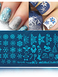 cheap -1pcs Stamping Plate Nail Stamping Template Daily Fashion High Quality