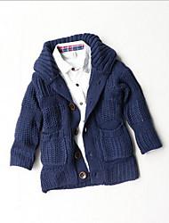 preiswerte -Pullover & Cardigan Lässig/Alltäglich einfarbig Baumwolle Acryl Winter Herbst Lange Ärmel Normal