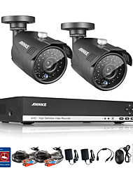 SANNCE® 4CH Full 960P CCTV DVR Video Surveillance Recorder 1.3MP Night Vision Weatherproof Cameras