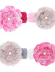 cheap -baby girls lace flower wide headband todder hair accessories infant hairband 4pcs