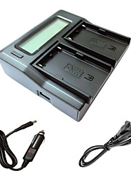 ex1r ex160 EX260 ex280 FS5 FS7カメラbatterysソニーのための車の充電ケーブルとismartdigi bpu90 LCDデュアル充電器