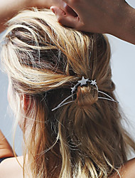 Women's Simple Moon Shape Hairpin Fashion Geometric Semicircular Metal Unique Design Hair Accessories  1 Piece