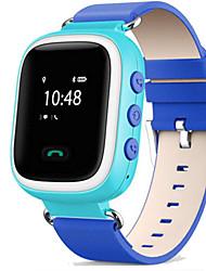 Недорогие -Спортивные часы Модные часы Смарт Часы Цифровой Защита от влаги Сенсорный экран Будильник Кожа Группа Цифровой На каждый день Синий / Оранжевый / Розовый - Оранжевый Синий Розовый / Календарь / LED