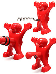 cheap -3 Pcs Little Happy Man Red Bottle Opener Kitchen Bar Fun Beer Soda Novelty Wine Opener