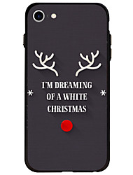 Christmas Pattern Case Back Cover Soft Acrylic For AppleiPhone 7 Plus iPhone 7 iPhone 6s Plus 6 Plus iPhone 6s 6 iPhone 5s 5 SE