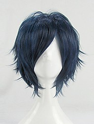 32cm Vocaloid Kaito Blue Black Short Cospaly Costume Wigs