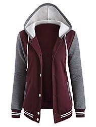 cheap -Active Cotton Hoodie Jacket - Color Block