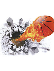 cheap -3D Wall Stickers Wall Decals Style New Basketball PVC Wall Stickers