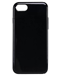 cheap -For  iPhone 7 7Plus 6S 6Plus Case Cover New Solid Color Classic Black TPU Material Phone Case