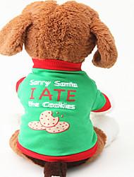 Cane T-shirt Abbigliamento per cani Casual Lettere & Numeri Verde