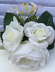 Свадебные цветы Розы Пионы Бутоньерки Свадьба Партия / Вечерняя Атлас