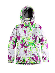 cheap -Ski Wear Ski/Snowboard Jackets Women's Winter Wear Polyester Stripe / Floral / Botanical Winter ClothingWaterproof / Breathable / Thermal