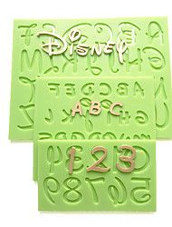 cheap -2016 New Cartoon Font Capital Lowercase Letter Number Mold Kitchen Accessories Fondant Silicone Mold Cake Decorating Tools Random Color