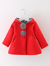 cheap -Girls' Daily Sports Solid Suit & Blazer,Cotton Winter Fall Long Sleeve Gray Red
