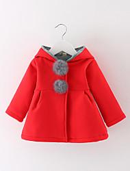preiswerte -Mädchen Anzug & Blazer Alltag Sport Solide Baumwolle Winter Herbst Langarm Grau Rot