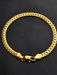 cheap -Women's Chain Bracelet - Gold Plated Bracelet Silver / Golden For Wedding / Party / Graduation