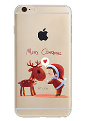 Til iPhone X iPhone 8 iPhone 8 Plus iPhone 7 iPhone 6 iPhone 5 etui Etuier Mønster Bagcover Etui Jul Blødt TPU for Apple iPhone X iPhone