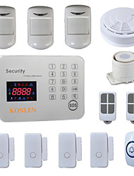 Touch GSM Alarm System Security Home Alarme Casa 120 Wireless Zone With Smoke Detector Doorbell